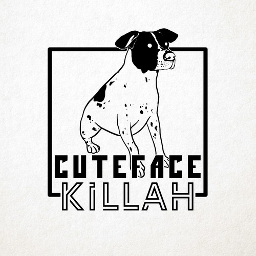 Hand-drawn Custom Dog Logo Design