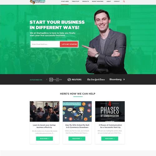 Web design for a business blog