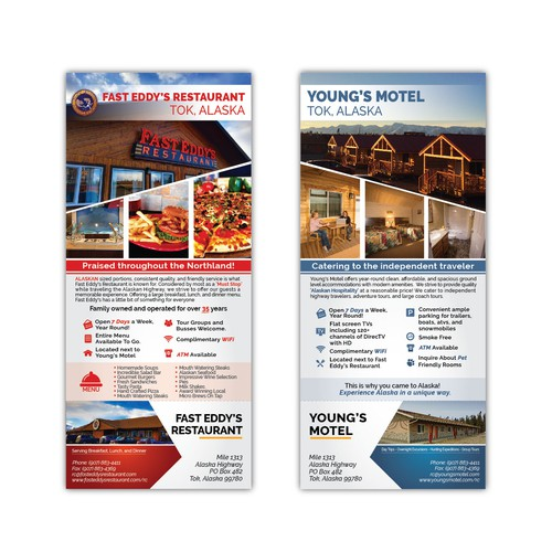 Rack Card restaurant motel