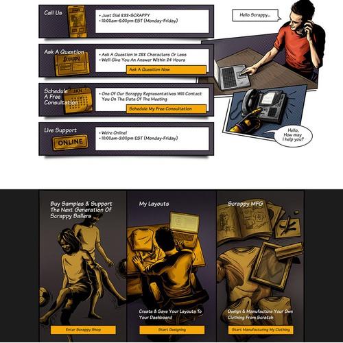 Web Page Design & Illustration