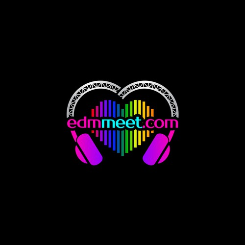 edm music vibrant logo