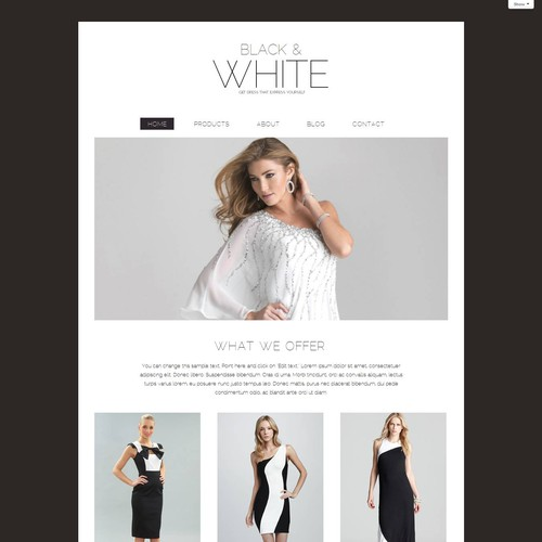 Create a beautiful website template for our new site builder