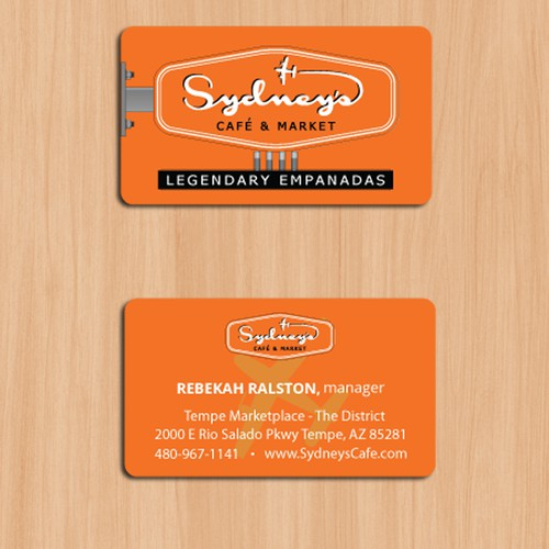 Business cards for cafe and market