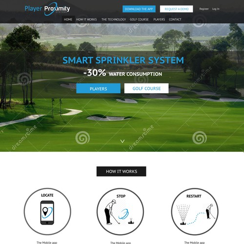 Blend technology and nature for Player Proximity Systems website
