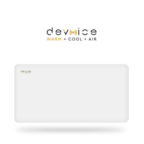 Smart voice controlling radiator led logo/label design.