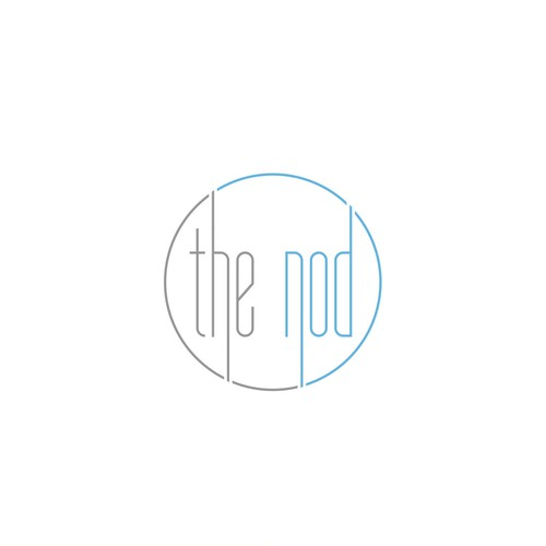 Crisp, clean logo for The Nod - an affordable luxury bed linen brand