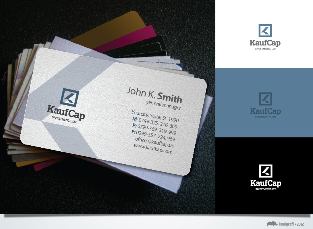 Create the next logo for KaufCap Investments, Ltd.