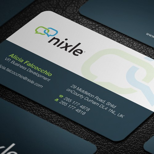 Business card based on logo for largest neighborhood network website in the US