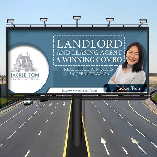 Billboard Design For Jackie Tom (RentalinSF)