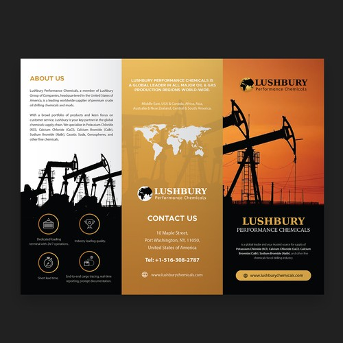Oil Drilling Trifold Brochure