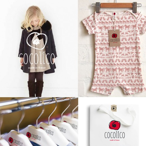 Luxury brand identity for a children clothing brand