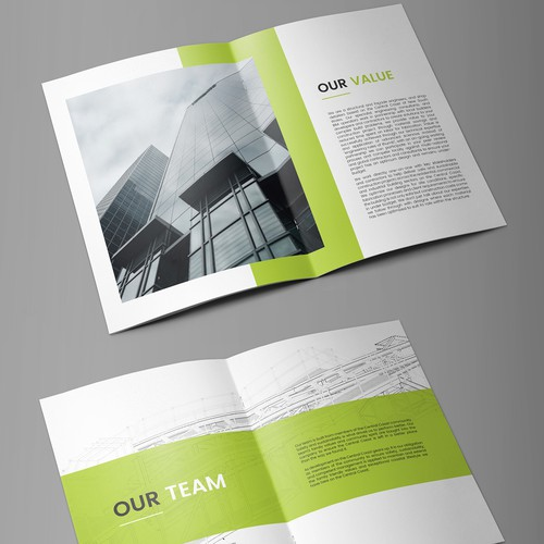 Clean Modern Bold Booklet Design
