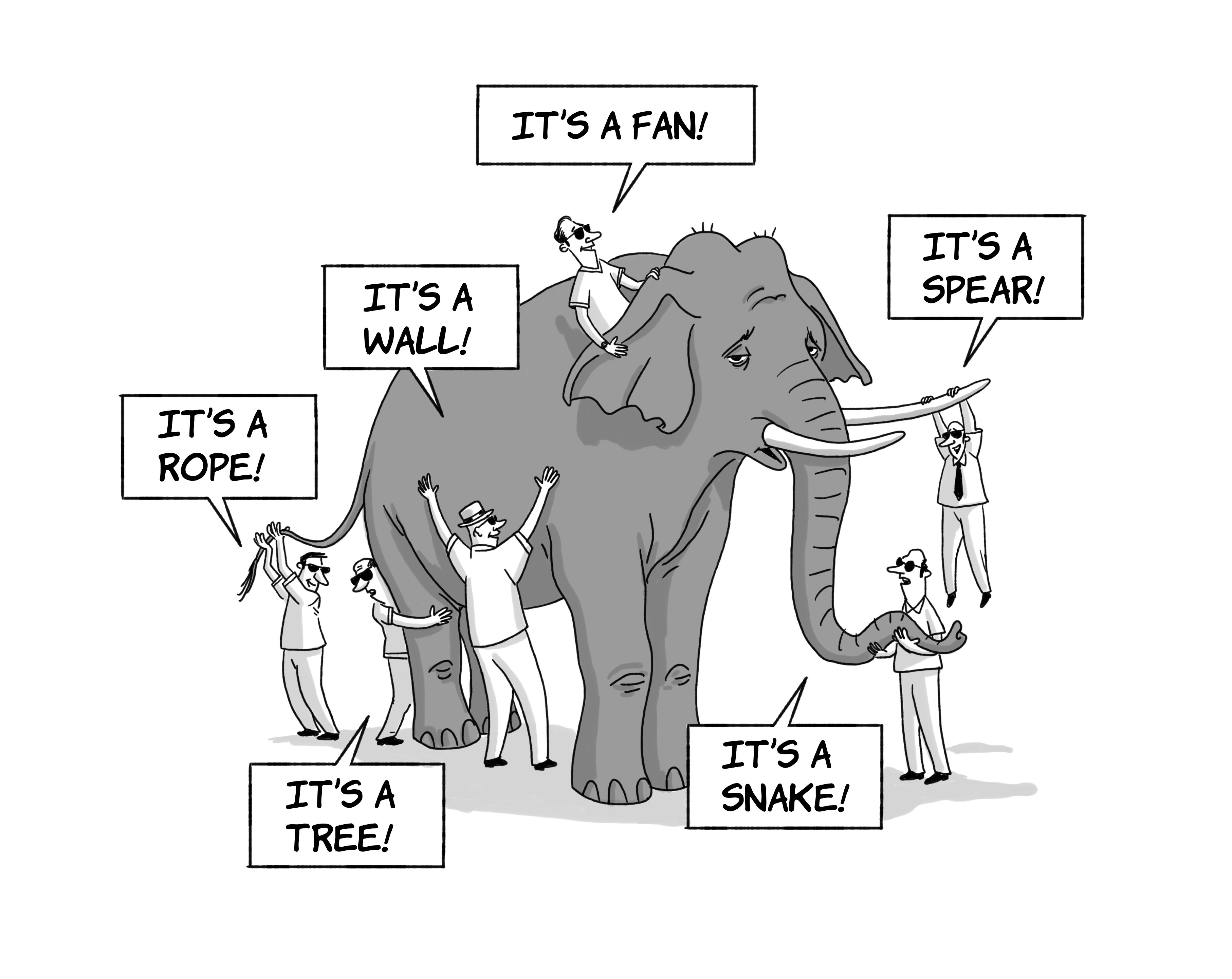 Illustration: Parable of the Blind Men and the Elephant