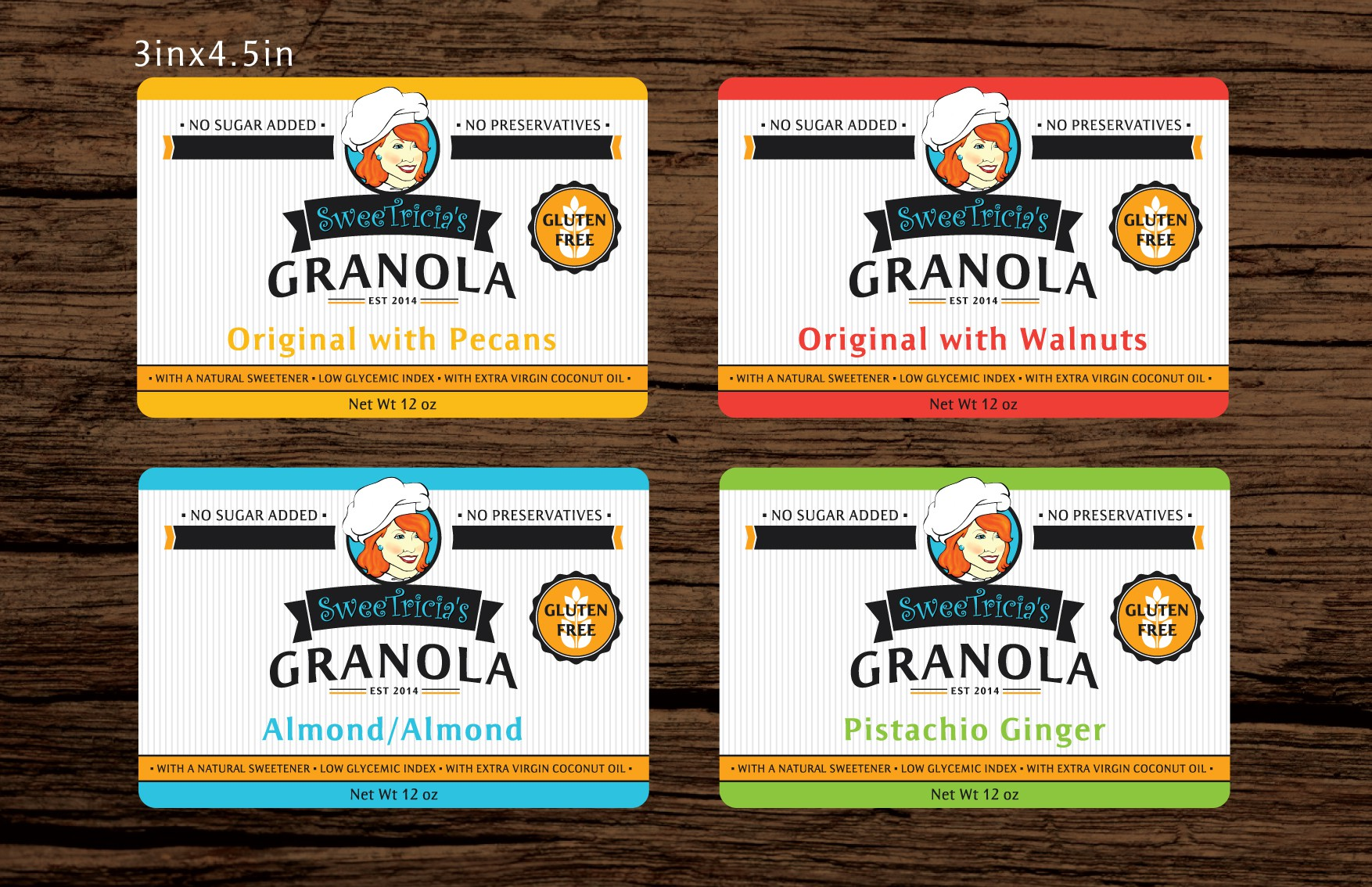 Create a Package Label for my fantastic tasting granola