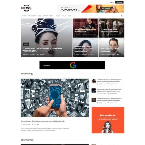 Modern viral news portal