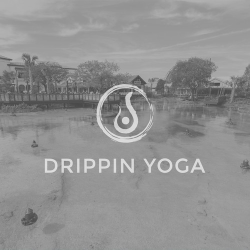 logo concept for dripping yoga