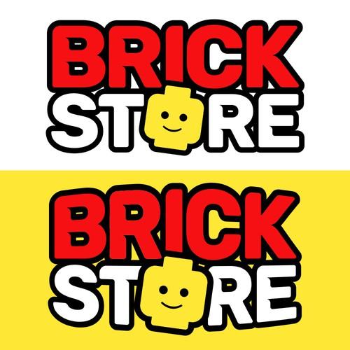 Bold logo concept for online LEGO shop