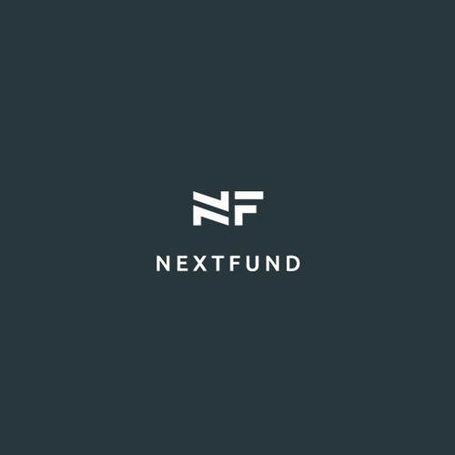 Minimalist logo mark for Nextfund
