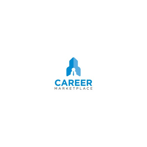 Clean logo for Career Market Place