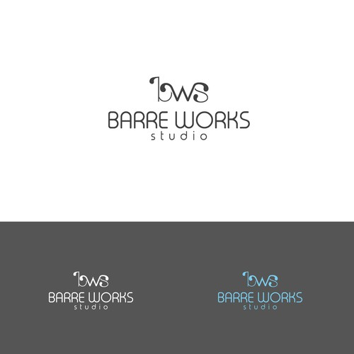 sleek logo for Bare Works Studio