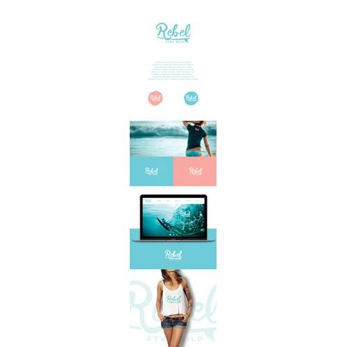 Logo for surf wear fashion apparel company