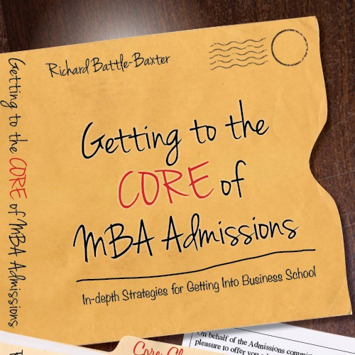 book cover design for Non-fiction guide for Business School applicants
