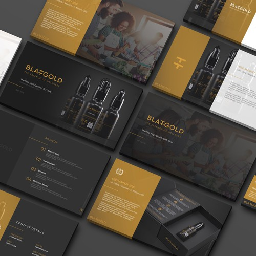 Template Design for Blattgold