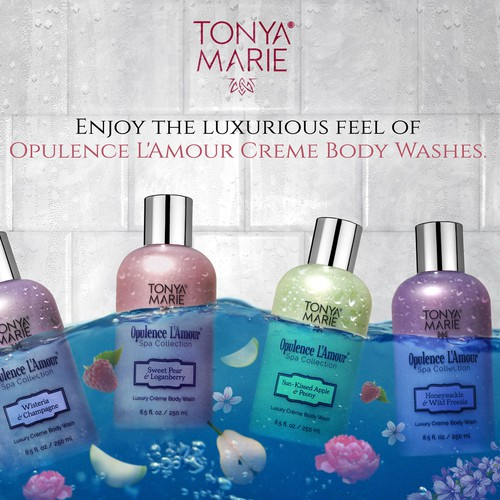 Entry design for TONYA MARIE Opulence L'Amour Creme Body Wash Commercial Image :)