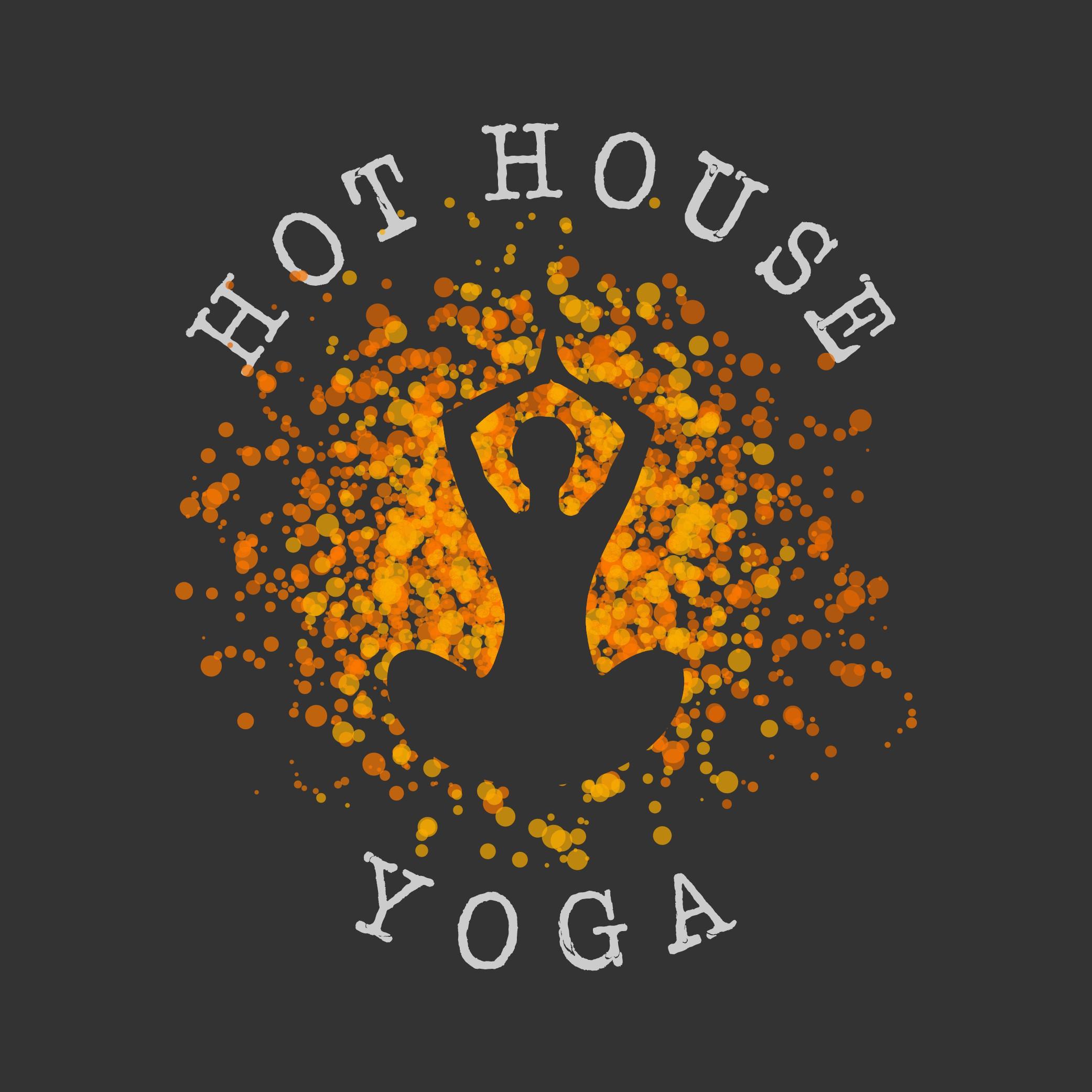Create a logo for a modern, hot yoga studio