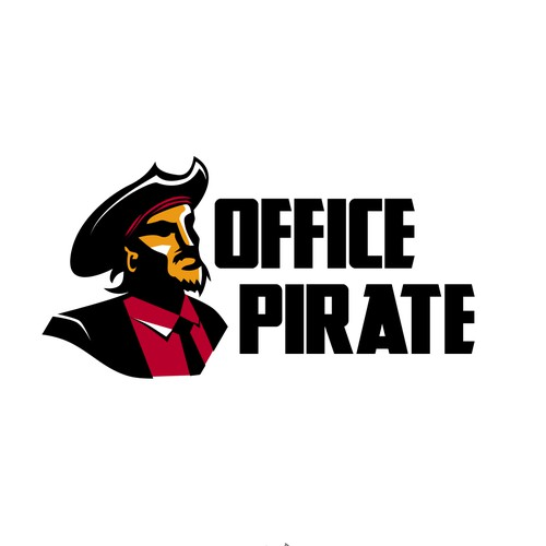 Office Pirate Mascot Logo