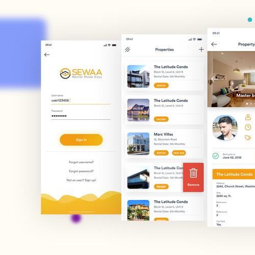 Property rental app