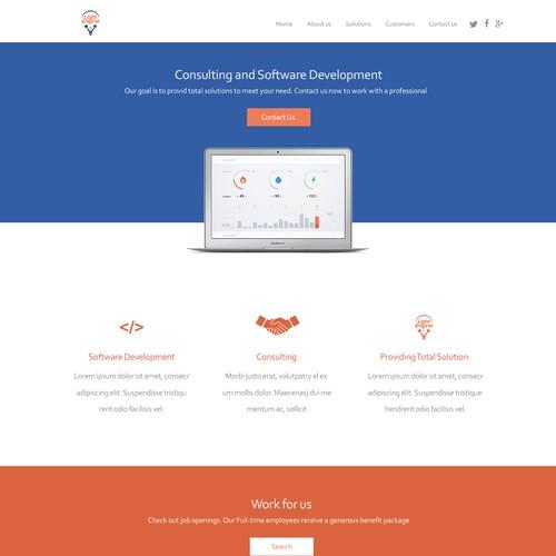 WP Landing Page Design for Light Engine