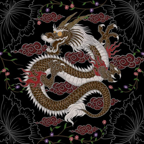 Bandanas!! Design a fun Chinese Dragon pattern for a bandana!