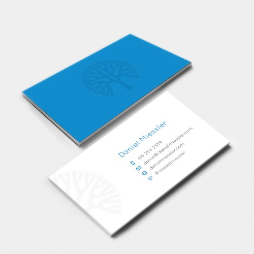 A simple Business Card for a tech blogger.