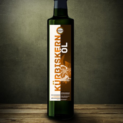 Label for pumpkin seed oil