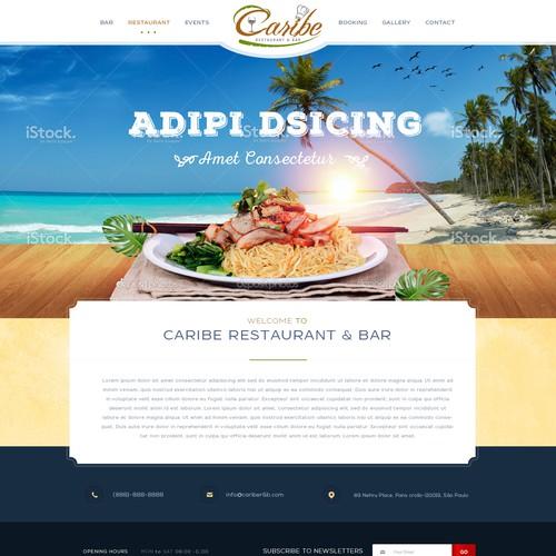 Caribe Restaurant & Bar Website Design