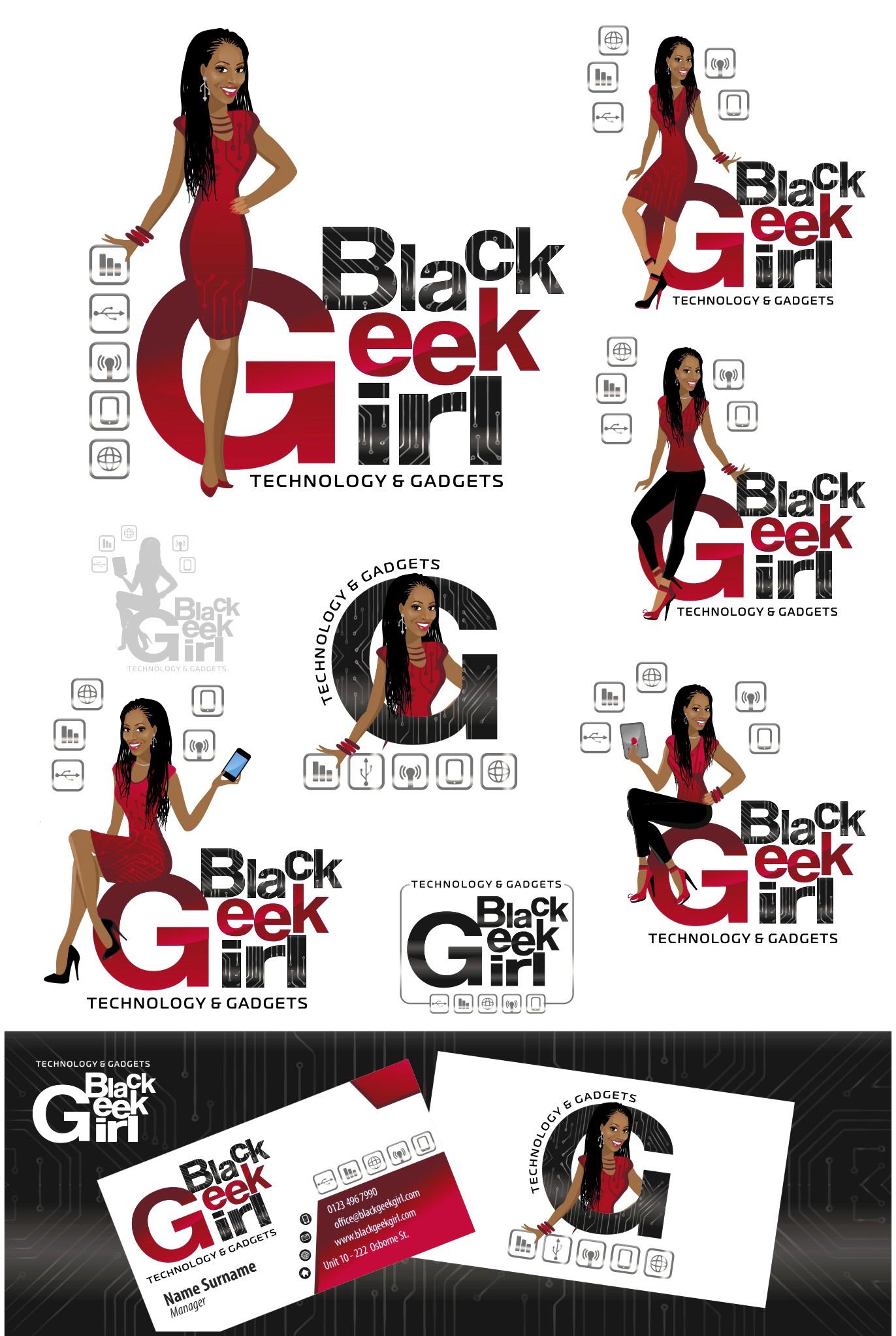 Black Geek Girl seeking top logo design for tech girl website!