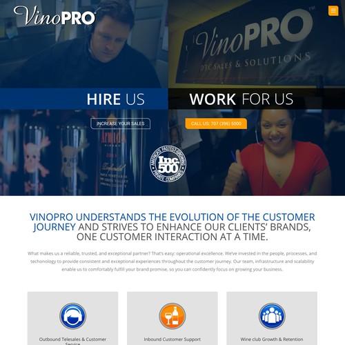 Webdesign VinoPRO WineSales