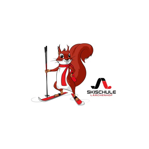 "Mascot ""Lärchi"" for a young dynamic ski school"
