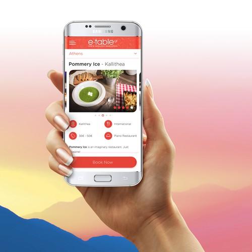E-Table online reservation App