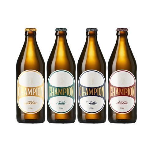 Champion Beer label