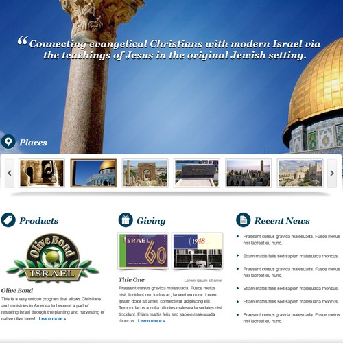 Love Israel Website Design