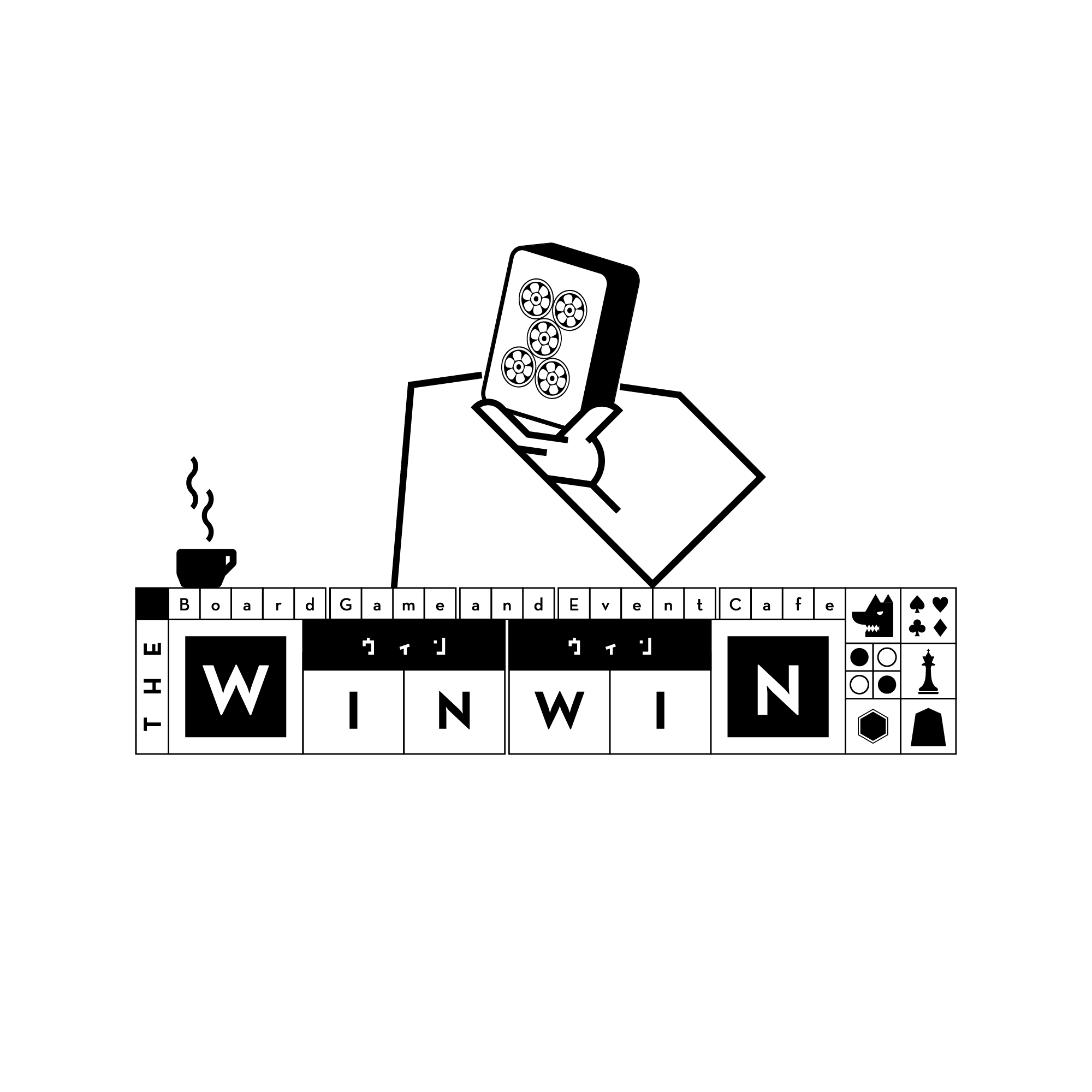 """Logo Design for a Board Game Cafe """"ウィンウィン/Win Win"""" / 東京五反田にオープンする、白木づくりのボードゲームカフェ「ウィンウィン」のロゴを募集します"""