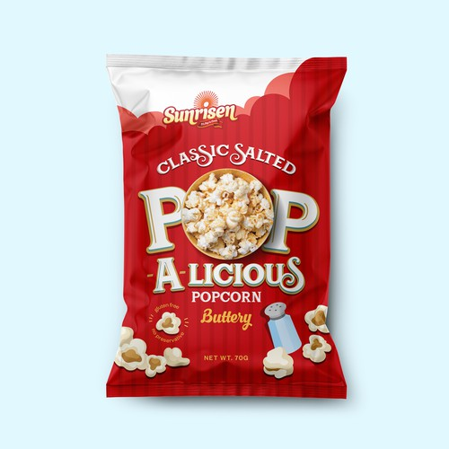Pop-A-licious Popcorn Packaging