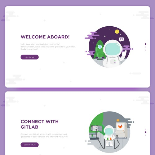 Website onboarding design for futurestud.io