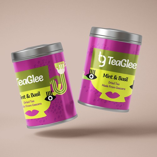 Tea tin design