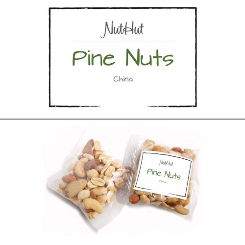 Label for premium, organic nuts and seeds