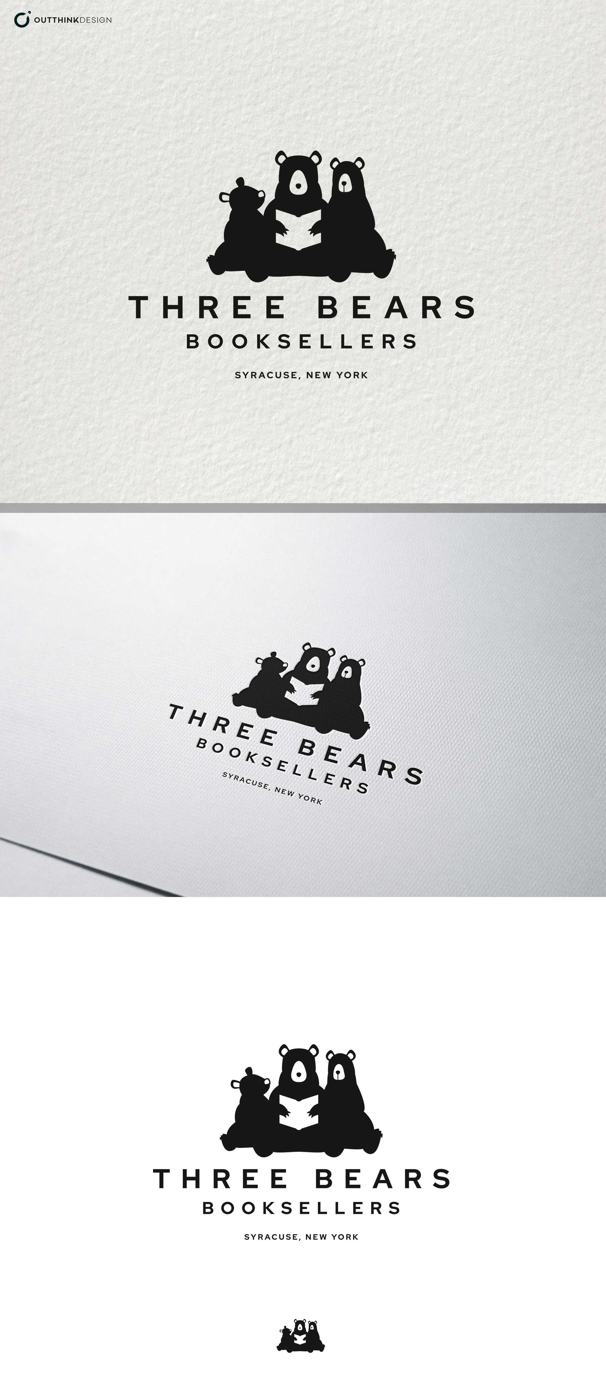 New Logo for Three Bears Booksellers Bookstore