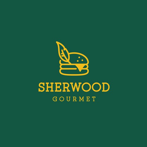 Creative logo for Sherwood Gourmet