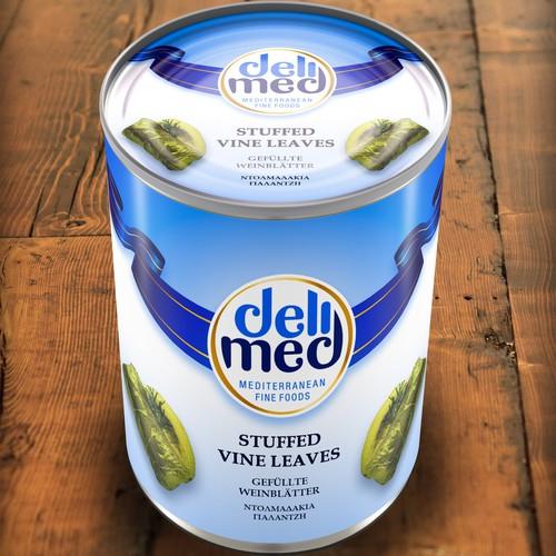 """DeliMed"" stuffed vine leaves."